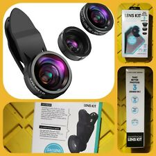 NO RESERVE - SMARTPHONE LENS KIT Clip On Smartphone Camera System NEW