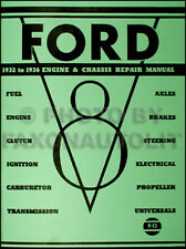 Ford Engine and Chassis Shop Manual V8 Repair 1932 1933 1934 1935 1936 Service