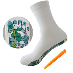 Acupressure Reflexology Socks Physiotherapy Massage Relieve Tired Feet So`mc