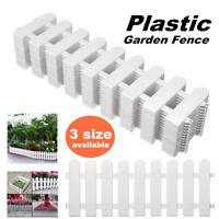 Plastic Fence Courtyard Indoor Garden Edging Border Panel Flower Yard Decor