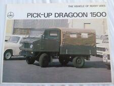 DIC Autocars Dragoon 1500 2 page Prospekt / brochure / catalog ** VERY RARE **