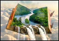 Heavenly Waterfall-Counted Cross Stitch Pattern Needlework Chart DIY X Stitch