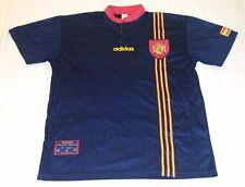 1996 SELECCION ESPAñA AWAY ADIDAS XL L ALBERTO BELSUE 3 jersey RFEF SPAIN UEFA