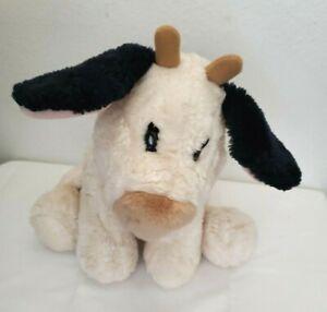"Gund Milkshake Cow Plush Stuffed Animal 11"" 2524 Black Ivory Cream"