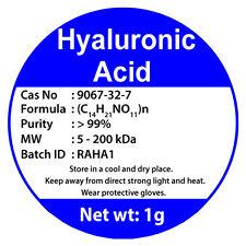 Hyaluronic Acid Powder HA Sodium Hyaluronate 1g Buy 2 Get 3 Cas No. 9067-32-7