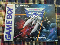 Gradius Interstellar Assault - Authentic - Nintendo Game Boy - GB - Manual Only!