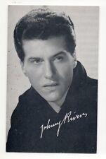 Johnny Rivers 1960's Bio Back Billboard Exhibit Arcade Card
