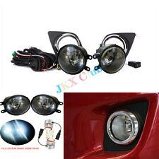 Fog Light Lamp LED Bulb Switch Wiring Bezel Kit Fit For Toyota RAV4 2009-2012