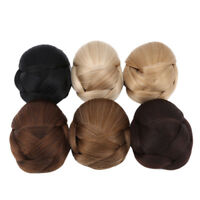 Clip In Wave Curly Chignon Updo Cover Hair Extension Hair Bun Charming D