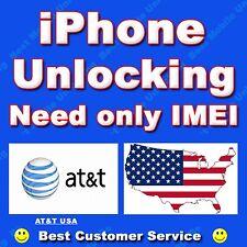 AT&T ATT USA (Super Premium) iPhone 7 7+ 6S 6S+ 6 6+ SE 5C 5 Unlock Code Service