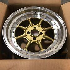 XXR Wheel 002 Gold Machine Deep Dish Step Lip 16 16x8 ET +0 Rim 4x100