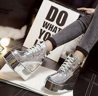 1  Womens Punk High platform Ankle Boots High Top Causal shoes Lace Up Sneakers