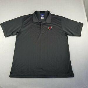 Reebok Gray Golf Polo Shirt Size Extra Large Arizona Cardinals Team Apparel Men
