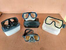 US DIVERS / DACOR / H. DESSAULT Scuba Tempered Glass Mask Professional Swim Case