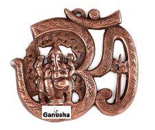 OM AUM GANESHA ANTIQUE METAL WALL HANGING GANPATI GANESH HINDU INDIA RARE