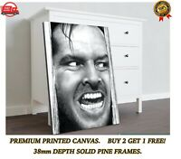 A0 A1 A2 A3 A4 Sizes The Shining Heres Johnny Giant framed CANVAS PRINT