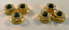 MITSUBISHI LANCER EVO 7 8 9 10 24CT GOLD PLATED SUSPENSION STRUT TOP NUTS 24K
