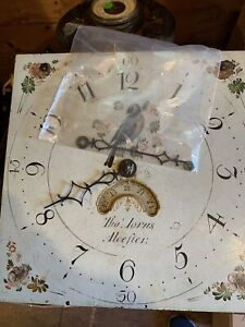 Antique Clock Movement, Dial , Hands  & Weight
