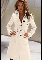 Sexy Womens Jacket Slim Fit Trench Coat Wool Blend Long Outwear Lapel Parka J