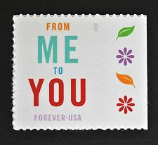 2015 - Me To You - U Commemorative Forever Stamp - with extra flower side stamp