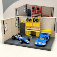1/2/4 PCS 1/43 Scale Aurora Garage Diorama Scene Model (not include model cars)