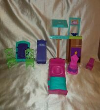 Lot Of Barbie, Princess & Other Doll Furniture Plastic Preowned