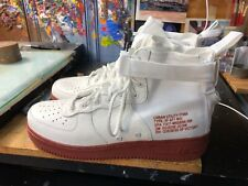 Nike SF AF1 Mid Ivory/Mars Stone Size US 12 Men's 917753 100 New Air Force 1