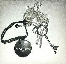 nwt Pandora Disney MICKEY MOUSE Fantasyland CASTLE KEY Necklace pendant 398233CZ
