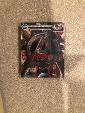 Avengers Age Of Ultron(4Kultra Hd+Bluray+Digital)Steel Book-Brand New