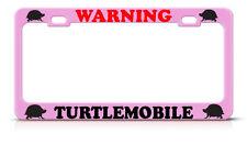 TURTLE MOBILE Metal PINK License Plate Frame ANIMAL TURTLE LOVER Tag Border