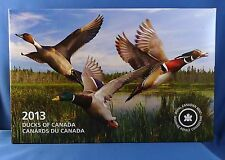 Ducks of Canada 3-coin Pure Silver Color Proof Set + Duck Call & Hardwood Case