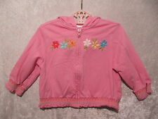 "Gymboree ""Spring Rainbow"" Floral Pink Smocked Hooded Jacket, 18-24 mos."
