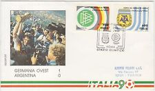 ITALIA '90 BUSTA UFFICIALE GERMANIA OVEST/ARGENTINA 1-0