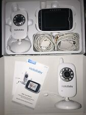 HelloBaby Hb32 Digital Wireless Video Baby Monitor With Night Vision W/2 Cameras