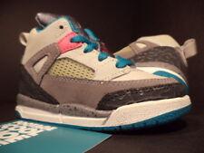 Baby Nike Air Jordan SPIZIKE TD GREY PINK TEAL GREEN CEMENT WHITE BLACK Sz 6C 6