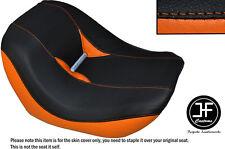 Vinilo Negro Naranja Personalizado Para Harley Davidson Barra De Noche frente especial Cubierta de asiento