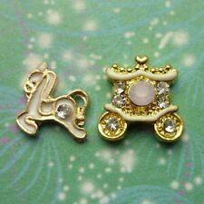 Horse & Carriage Charm set for locket necklaces