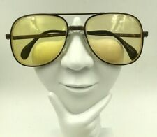 Vintage Menrad 333-132 Brown Metal Aviator Sunglasses Germany Frames Only