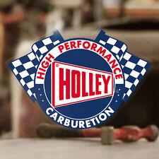 Holley Carburetion Sticker Autocollante Aufkleber Hot Rod Vergaser MOON blau