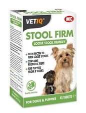 VetIQ Stool Firm for Dogs & Puppies 45 Tabs - For Loose Stools
