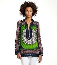 Tory Burch Tory Tunic $275  Navy Giverny 10 Classic Resort Cruise Cover Up L