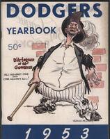 1953 Brooklyn DODGERS  Yearbook