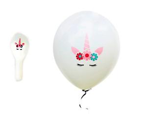 10X New Cute Unicorn Balloon Happy Birthday Party Decorations Kids White Cartoon