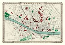 George Bradshaw'S CONTINENTAL Piano della città di Firenze 1896 - 1000 Pezzo Puzzle