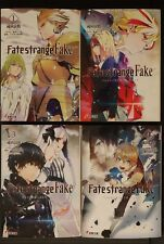 JAPAN Ryougo Narita (Durarara!! Artist) novel LOT: Fate/strange Fake vol.1~4 Set