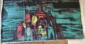 Kcho, Giant format painting, Original, 2021. COA
