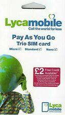 100 x Lycamobile UK New PAYG SIM Cards 4G Trio Bulk Wholesale Joblot Sealed