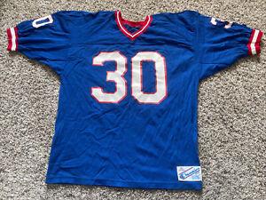 Vintage 80s Champion XL Buffalo Bills Football Jersey #30 Blue DEADSTOCK NWOT
