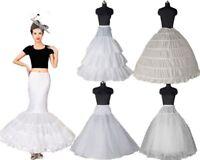 White Long Petticoat Slips Bridal Underskirt A Line/Mermaid Hoop Crinoline Skirt