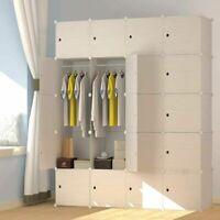 20 Cube Modular Wardrobe Hanging Clothes Cube Books Towels Storage Organizer